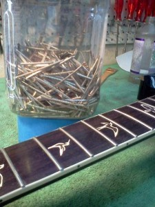 Re-fret of a PRS with Stainless Steel Frets